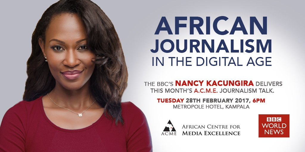 Nancy Kacungira is a multi award-winning BBC journalist with more than 10 years of media experience in East Africa. https://t.co/Gq0epcANu0