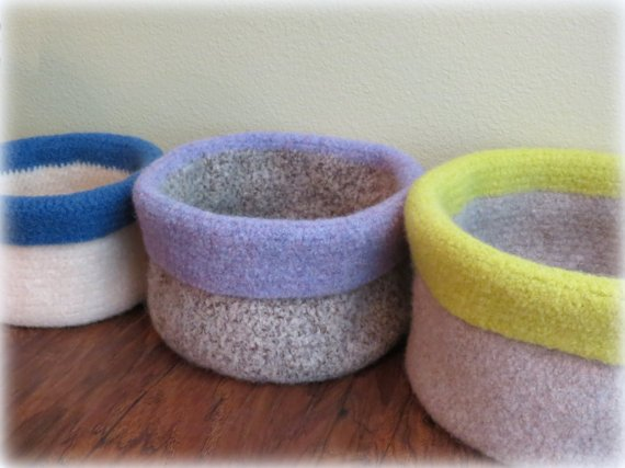 Crochet Storage Baskets Pattern