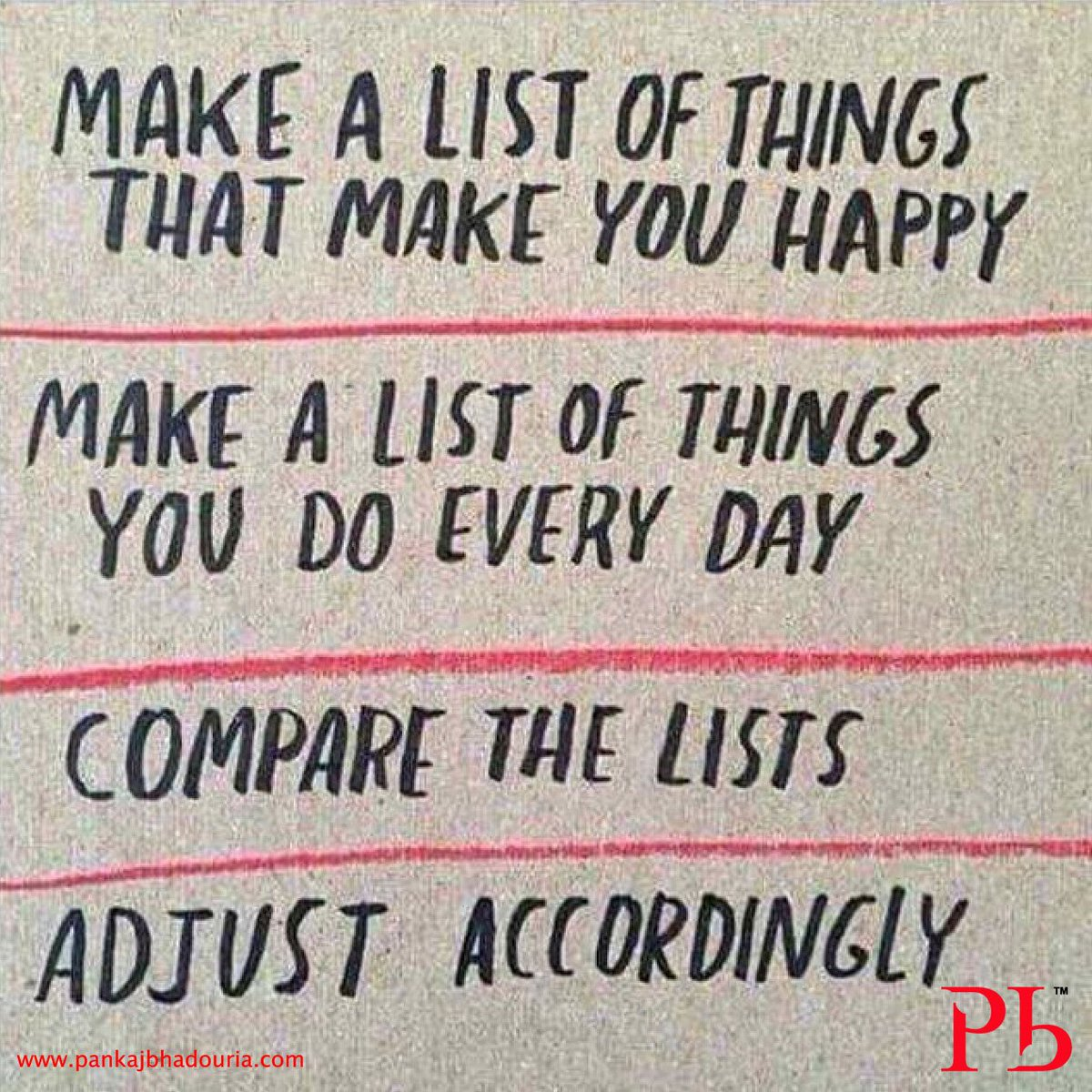 A quick check list to get things right through the day! #mondaymotivat...