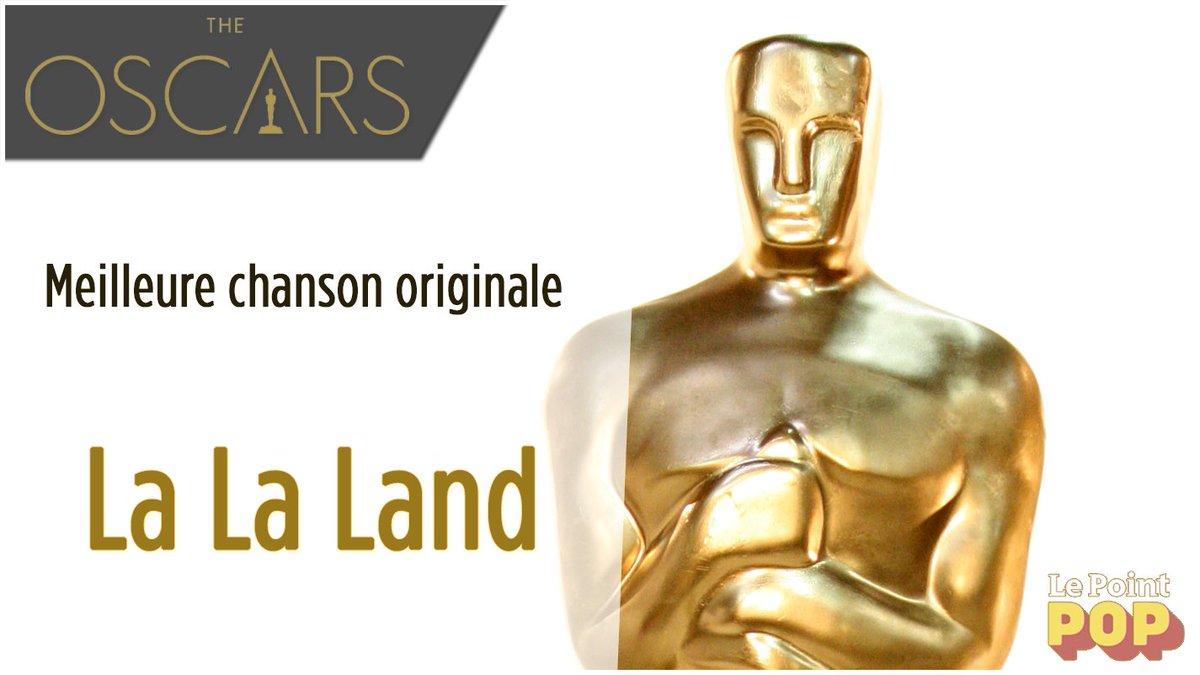 Et de 4 ! #LaLaLand reçoit l\'oscar de la meilleure chanson originale   #Oscars