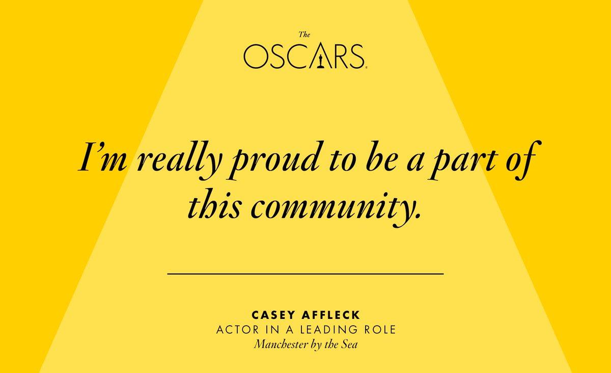 Well said, Casey Affleck. #Oscars https://t.co/rrjKOR22CF