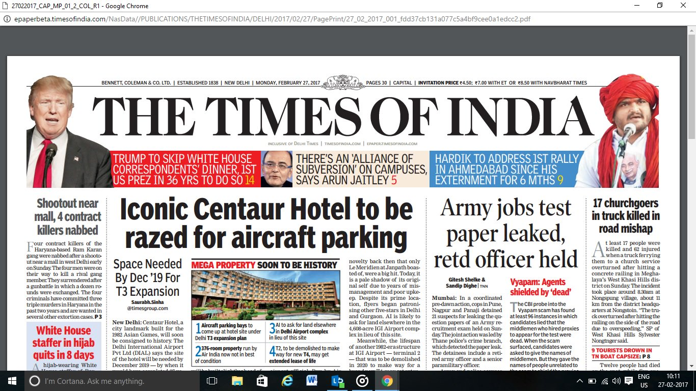 The Times Of India News Paper Pdf