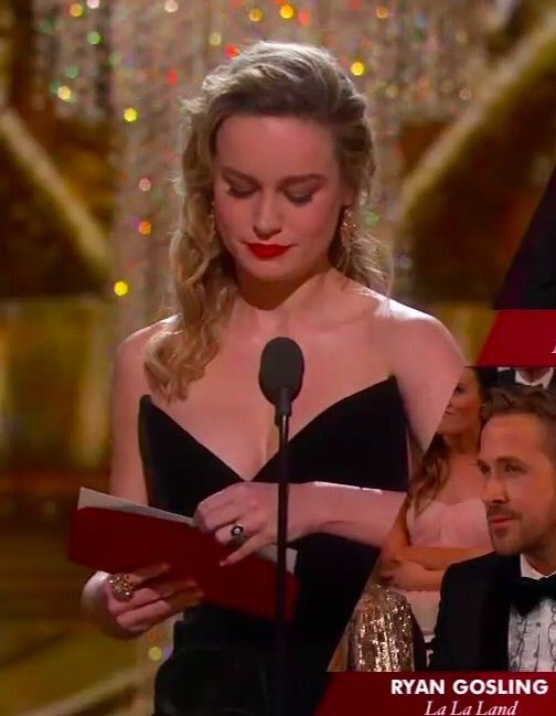 Brie Larson, like everyone else, didn't seem thrilled with Casey Affleck's Oscar win