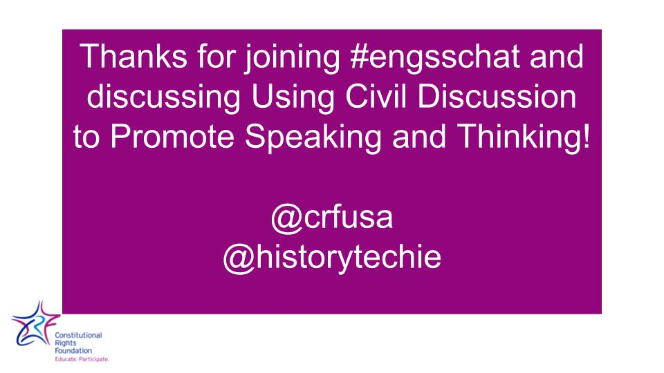 Thumbnail for 2017-02-27 #engsschat - Using Discussion to Promote Speaking & Listening