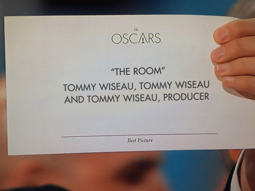 Congrats to @TheRoomMovie for the #Oscars win! https://t.co/WYe4K3e5dK