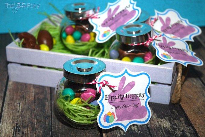 DIY Easter Nest Jars