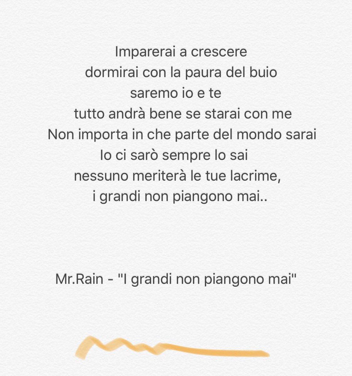 Mr Rain On Twitter Igrandinonpiangonomai