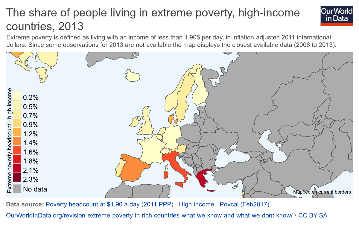 Max Roser On Twitter Extreme Poverty In Rich Countries What We - Extreme poverty map