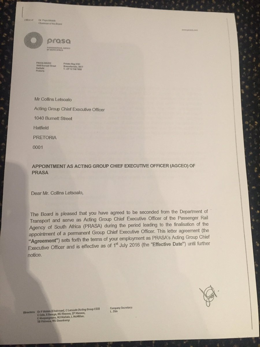 Kalden o lachungpa on twitter prasa acting ceo collins letsoalos kalden o lachungpa on twitter prasa acting ceo collins letsoalos appointment letter he is reading this aloud ann7tv altavistaventures Gallery