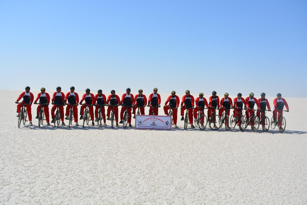 531 km 'Sea to Rann' Kayaking cum Cycling expedition of Army concludes successfully