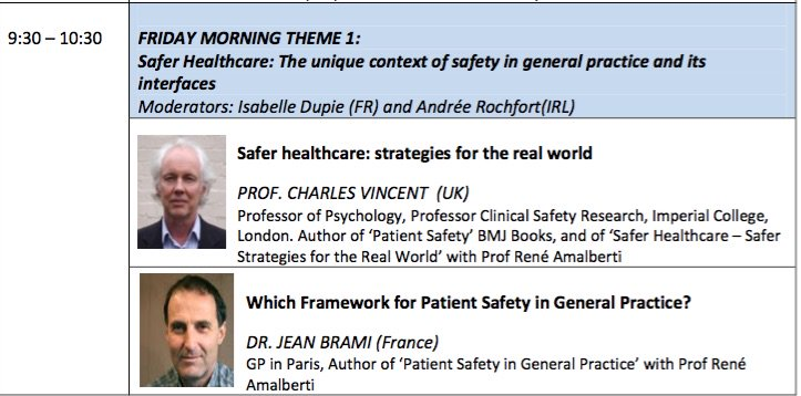 """FIRST speaker at #EQUIPDublin2017 nx Fri Mar 3 Prof Charles Vincent, author """"Patient Safety"""" BMJ Books. More at https://t.co/orJqvLkyji https://t.co/EF1yHvtGyq"""