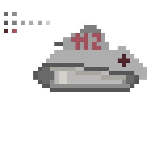Hatpin Studios On Twitter Pixel Art Ww1 German Tank To Be