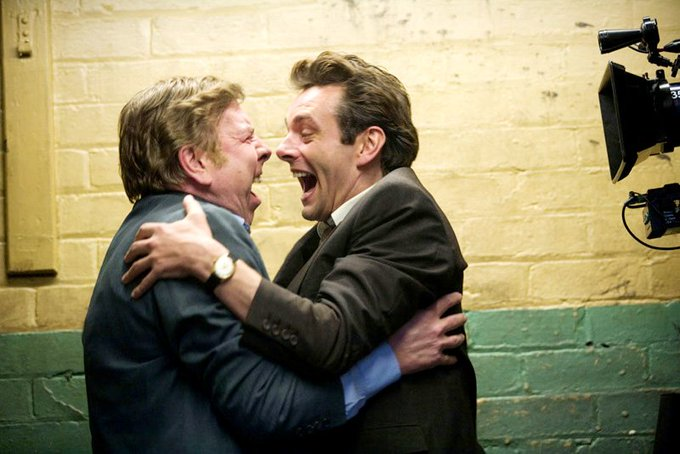 Happy birthday Timothy Spall! Here you are with Michael Sheen in 2009\s Have a fantastic day.