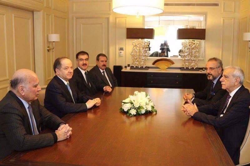 IKBY Başkanı Mesut Barzani Ahmet Türk ve Sırrı Sakık'la  biraraya geld...