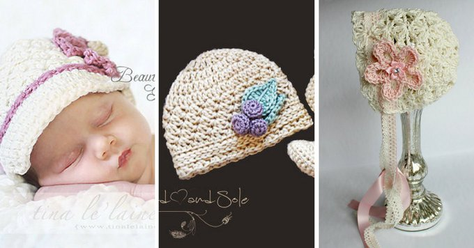 Crochet Baby Hat Patterns For Girls