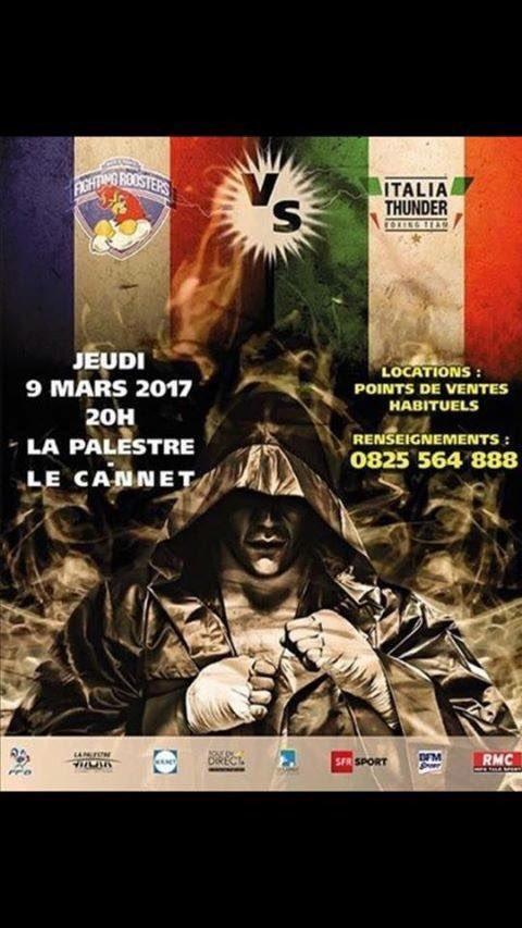 #WSBVII Day 3 Gruppo C @italiathunder vs @FightingRooste1  #LeCannet #Francia #France 9/03 #OfficialPoster #iocimettolafaccia @Coninews<br>http://pic.twitter.com/BMGBXGyYJy