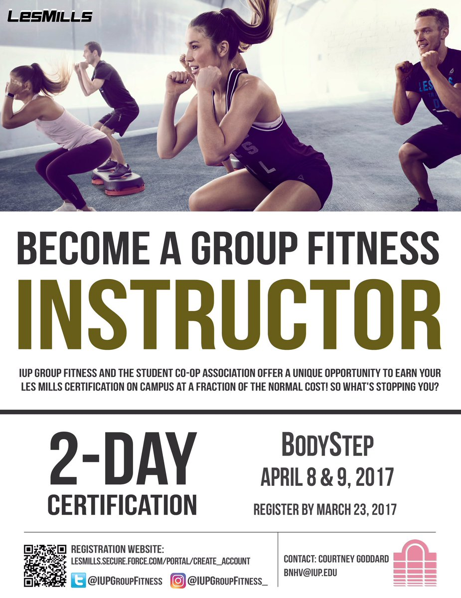Iup Group Fitness On Twitter Thinking About Becoming A Bodystep