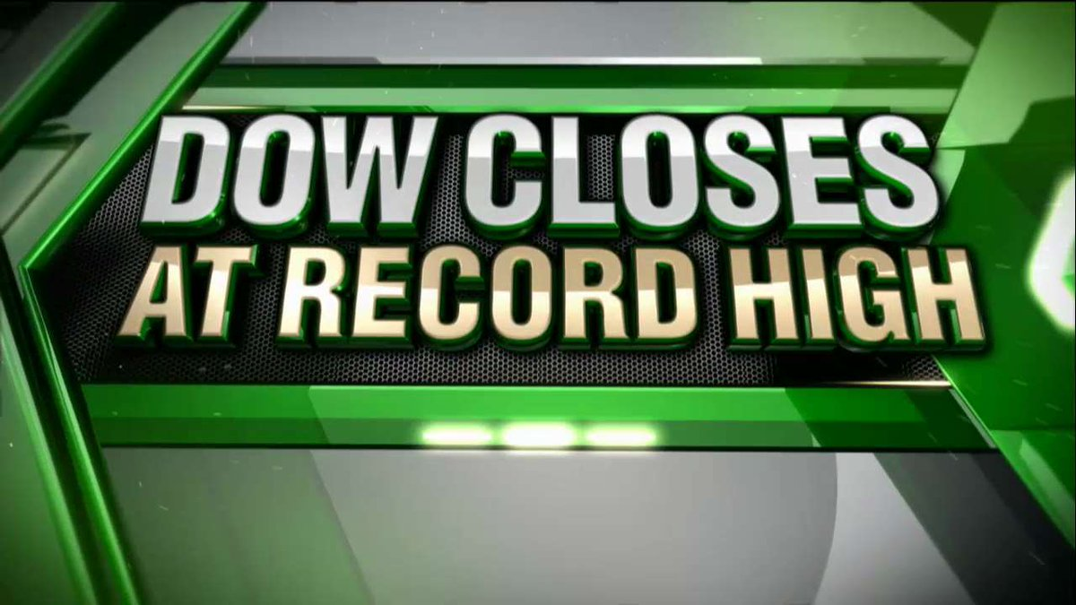 #Breaking News - The Dow closes at a record high for the 12th consecutive trading session.