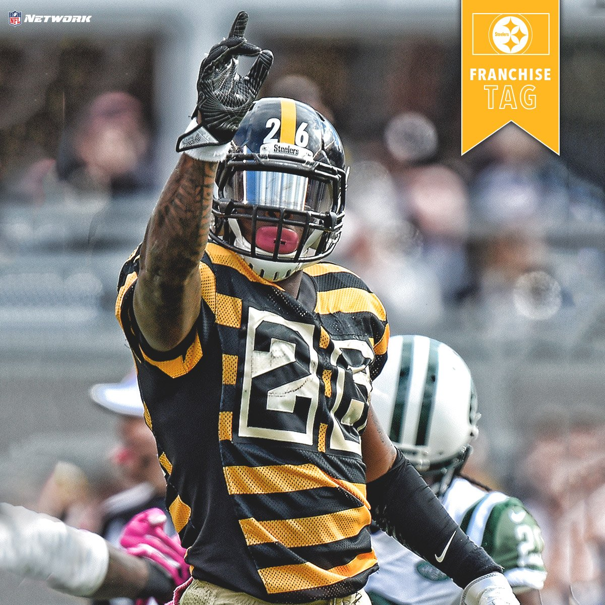 The @steelers have placed the exclusive franchise tag on RB Le'Veon Be...