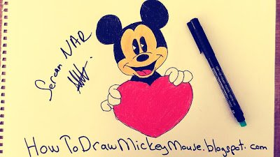 Mickey Mouse Drawing On Twitter Easy Mickey Mouse Drawings Https