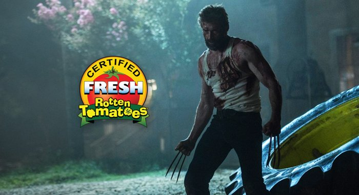 #Logan has been #CertifiedFresh at 95% ---> https://t.co/xyIMxFzm5p 🍅 #Tomatometer @WolverineMovie @RealHughJackman