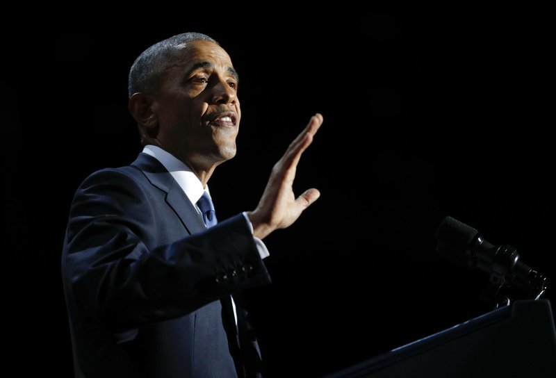 A farewell address, a news conference and White House change thanks ! #mypresident #obama  https:// apnews.com/7f068c7ee18d47 41b579a3ca9fb8b028?utm_campaign=crowdfire&amp;utm_content=crowdfire&amp;utm_medium=social&amp;utm_source=twitter &nbsp; … <br>http://pic.twitter.com/aLiaVDVkr8