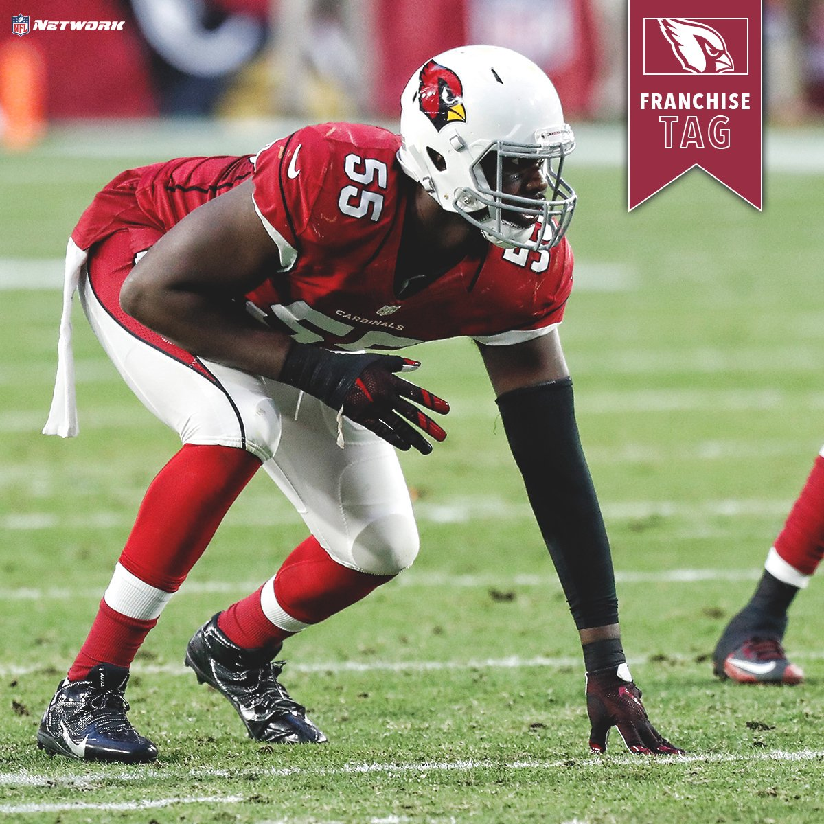 .@AZCardinals announce they have placed the franchise tag on DE Chandl...
