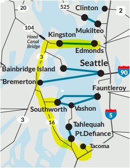 washington state ferries on twitter seattletanker alt route edmonds kingston ferry to bainbridge island head south to southworth fauntleroy ferry or continue south to tacoma https t co e8m8uws1rh edmonds kingston ferry to bainbridge