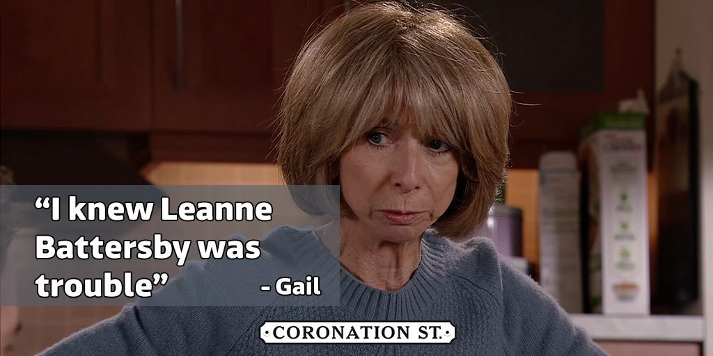 To be fair, Gail has been saying it for years 😅 #Corrie https://t.co/x...