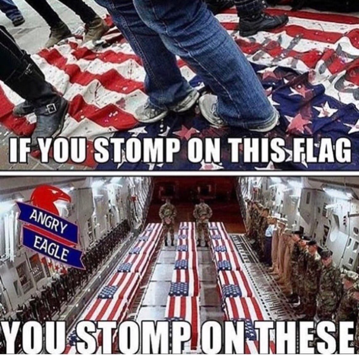 What ever happened to not letting our flag touch the ground...? Our morals are being flushed down the toilet