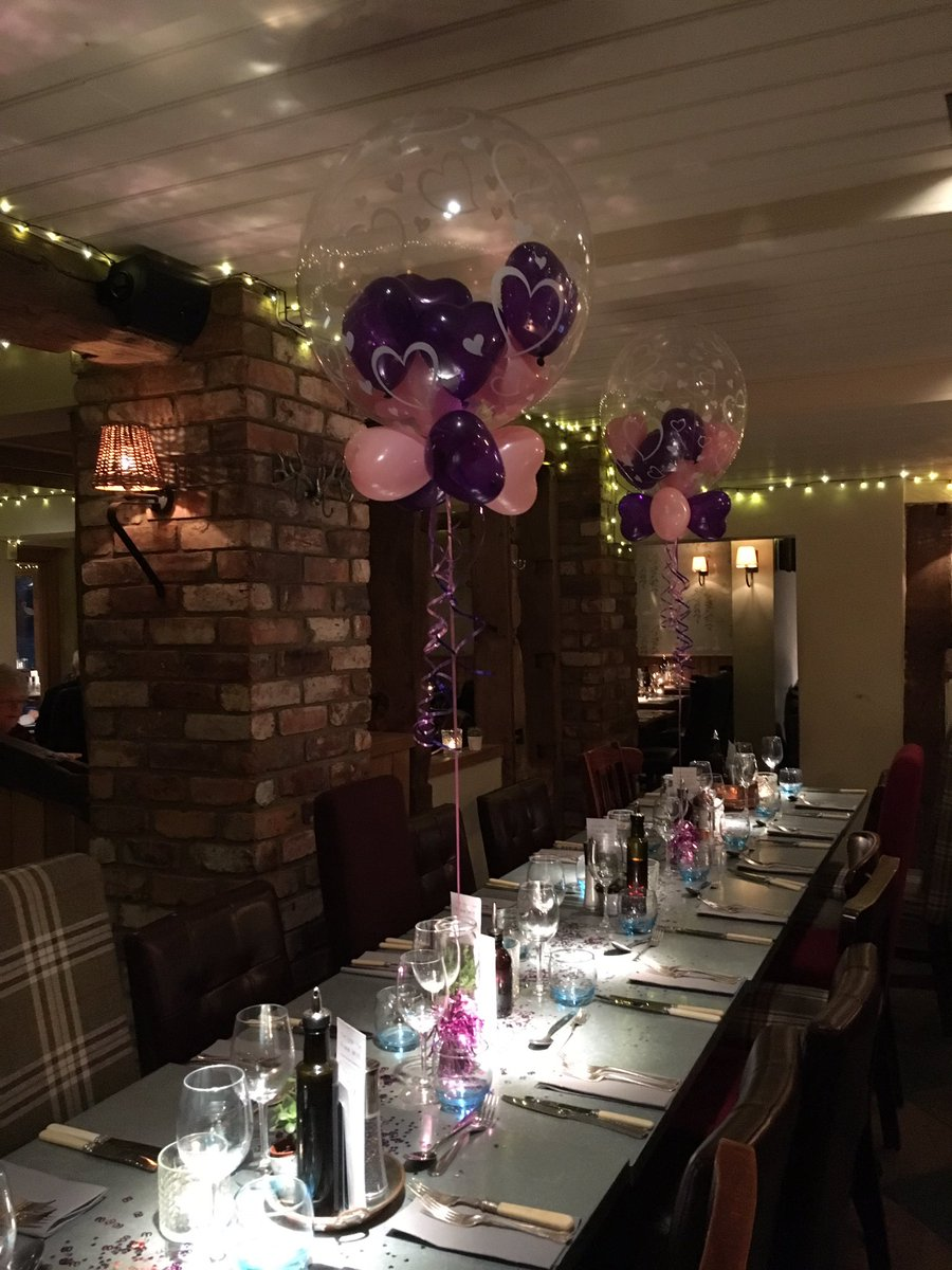 Lovely setting for our #heart #gumball #balloons for 60th birthday @thehanleyswan #worcestershirehour<br>http://pic.twitter.com/rPn9ydO3Vt