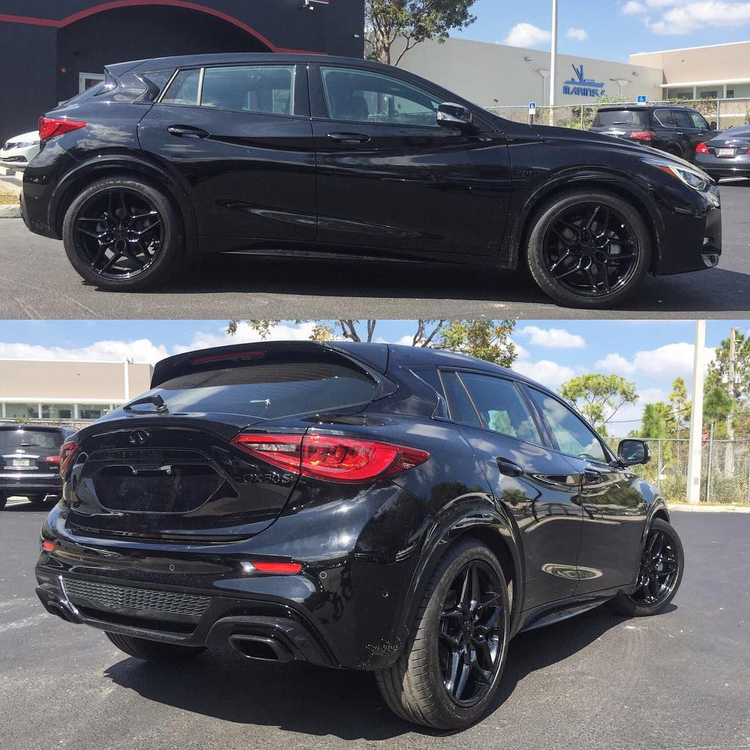 """Alex Vega On Twitter: """"More Pictures Of This Infiniti QX30s. All Blacked Out. #infiniti #QX30"""