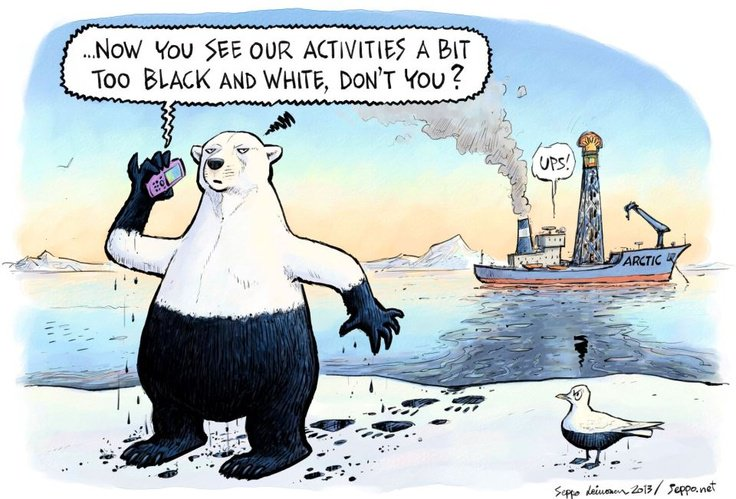 Rex Tillerson, #US Sec of State, supports #Arctic drilling by his former company #Exxon in #Russia. #PolarBear are in peril #PolarBearDay<br>http://pic.twitter.com/JjIsgoMwsF