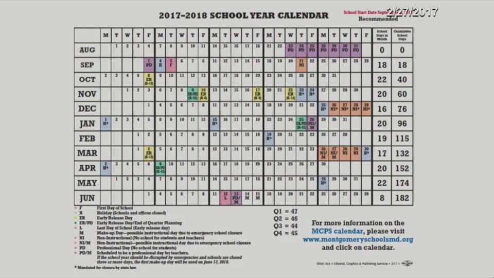 Mocosnow On Twitter 2017 2018 Mcps Calendar