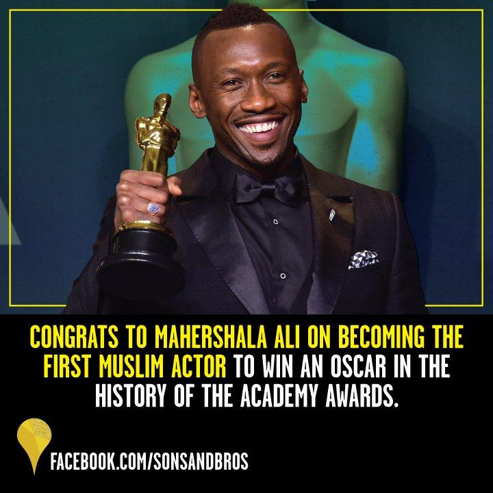 RT @sonsandbros: Plus one bonus shout out to Mahershala Ali for his big win! #Oscars https://t.co/TVFTxGqqst