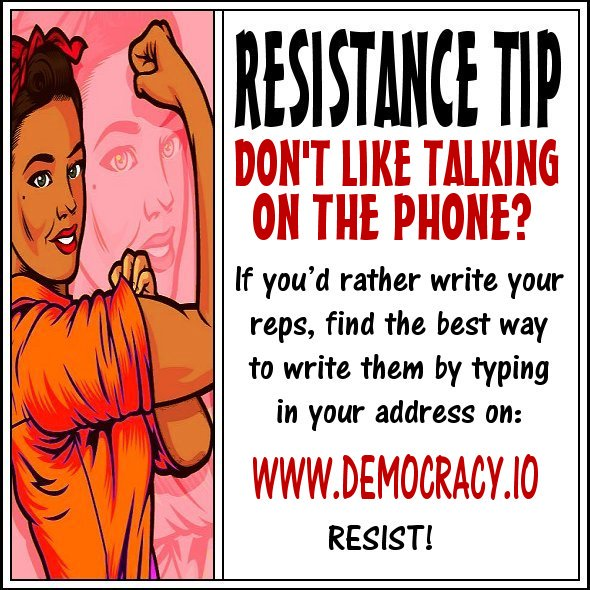 #TheResistance #Indivisible #WomensMarch #NotMyPresident #StopTrump #ImpeachTrump #ResistTrump #Resist #LoveArmy #OurRevolution  Tips!<br>http://pic.twitter.com/nCLe89lQN7