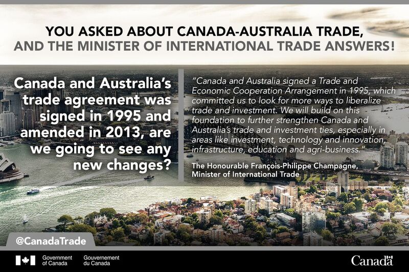 Canada Trade On Twitter Sarapmyc Asked About The Future Of