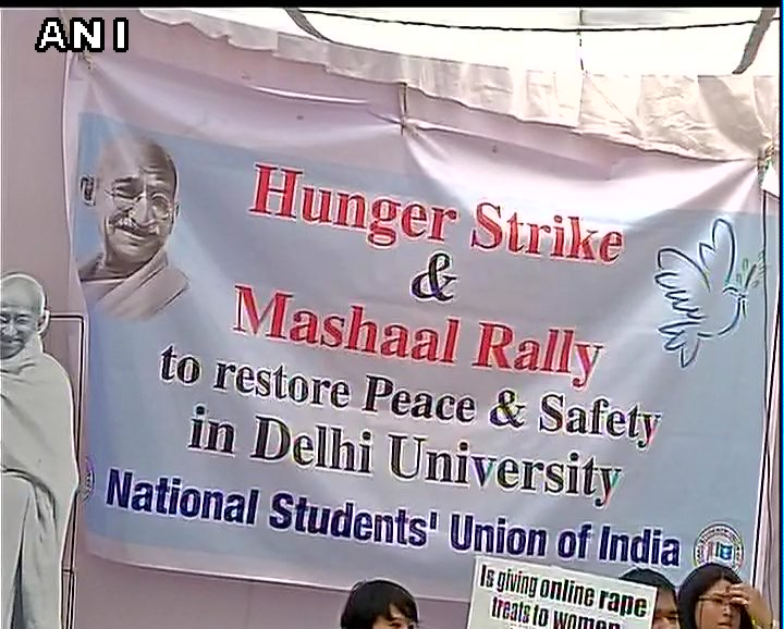 #RamjasRow: National Students' Union of India's (NSUI) hunger strike o...