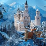 Image for the Tweet beginning: IMAGE: 19th century Neuschwanstein Castle,