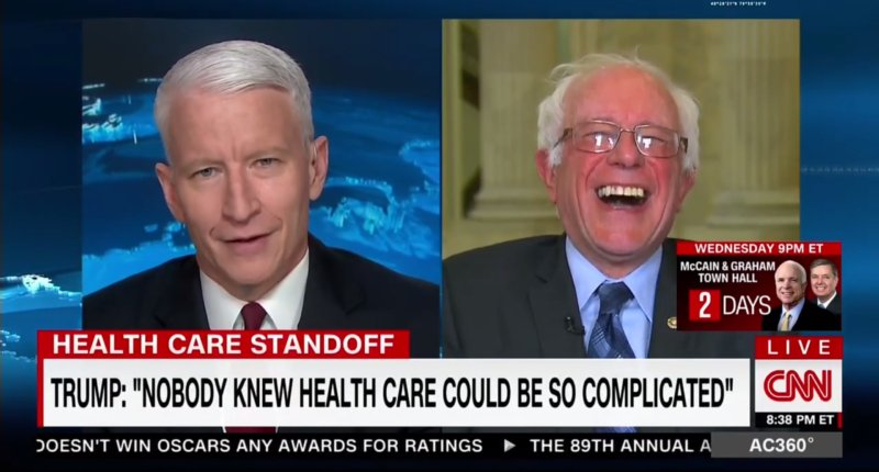 Face of the Day: Bernie Sanders hearing Trump say 'no one knew' health care is complicated. https://t.co/I5RDOX4bBZ  https://t.co/zqUGmXDlWs
