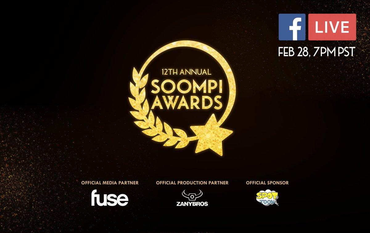 Marca tu agenda: Sintoniza el anuncio de los ganadores de #SoompiAwards EN VIVO (y gana premios)  https://www. soompi.com/es/2017/02/28/ marca-tu-agenda-sintoniza-el-anuncio-de-los-ganadores-de-soompi-awards-en-vivo-y-gana-premios/ &nbsp; … <br>http://pic.twitter.com/joI2vxlfD2