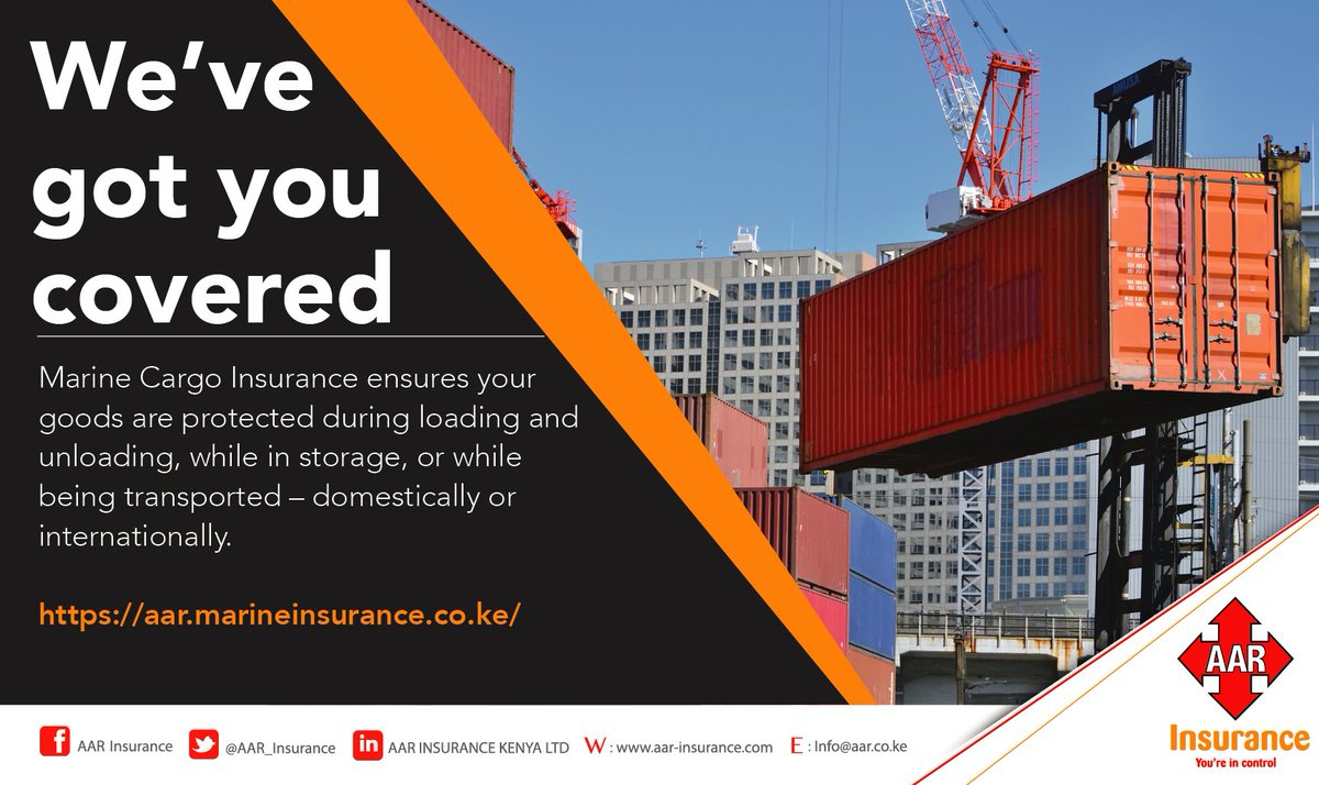 AAR Insurance on Twitter Marine cargo insurance ensures your goods