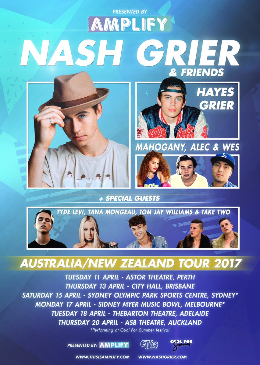 Amplify on twitter join nashgrier hayesgrier tanamongeau amplify on twitter join nashgrier hayesgrier tanamongeau more as they tour around australia nz tickets available now kristyandbryce Images