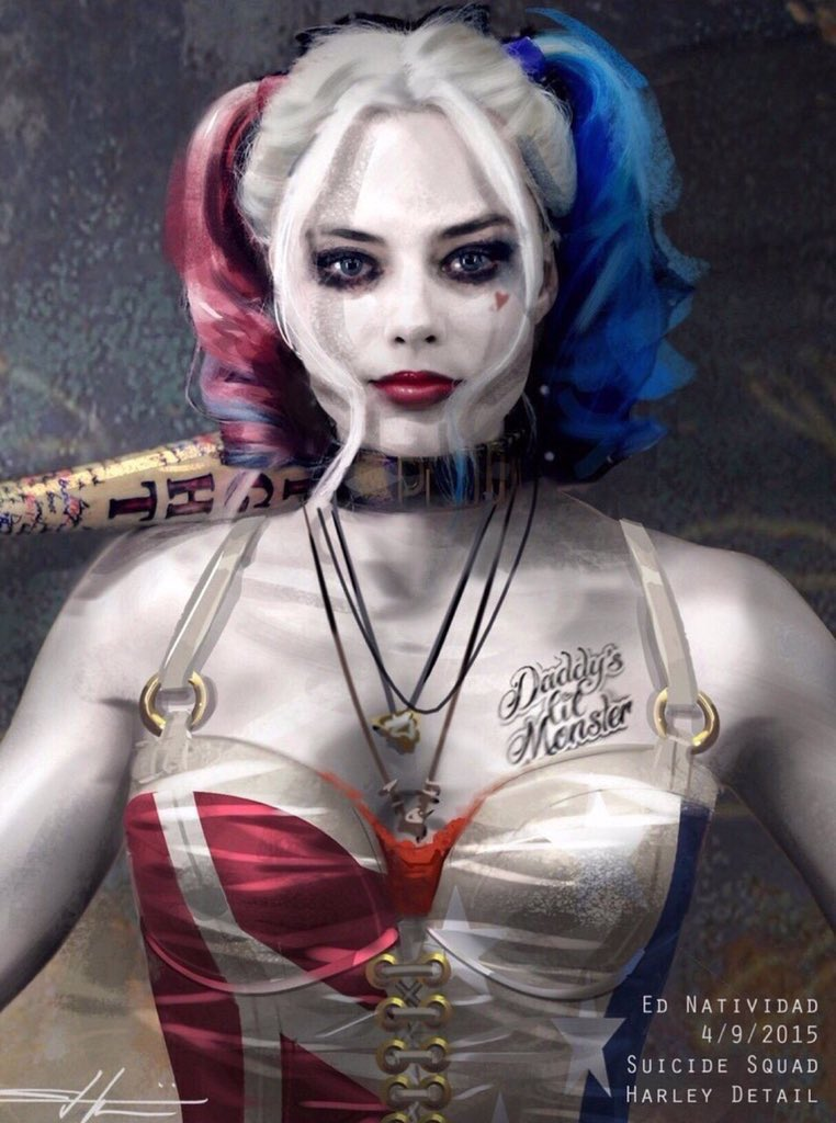 #SuicideSquad Concept Art by Ed Natividad shows what #HarleyQuinn coul...