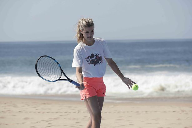 Eugenie Bouchard takes to the beach ahead of tennis comeback https://t...