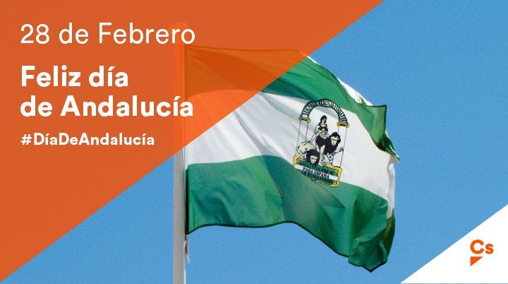 ¡Desde @Cs_Andalucia te deseamos un feliz #28F! ¡Feliz #DíaDeAndalucía...
