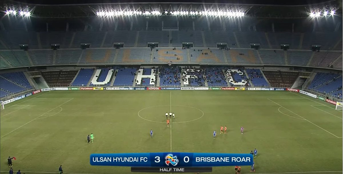 전반종료 l @ulsanFC 3-0 @brisbaneroar #ULSvBRI #ACL2017 https://t.co/rpEqe...