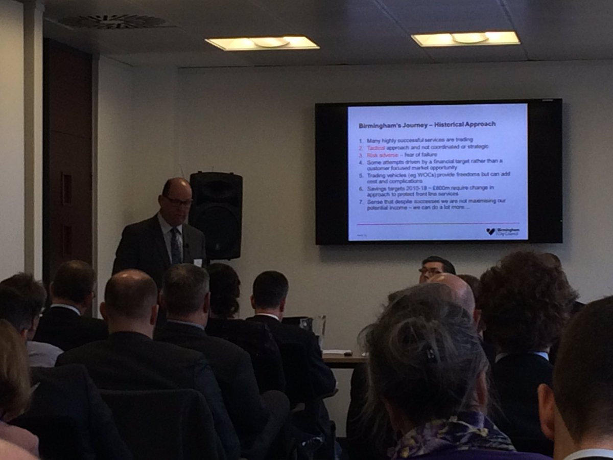 RT @JAMcEver Practical insight from @Kenthelyon colleague in Birmingham #commercialcouncils @THEBSASSOC @LP_localgov