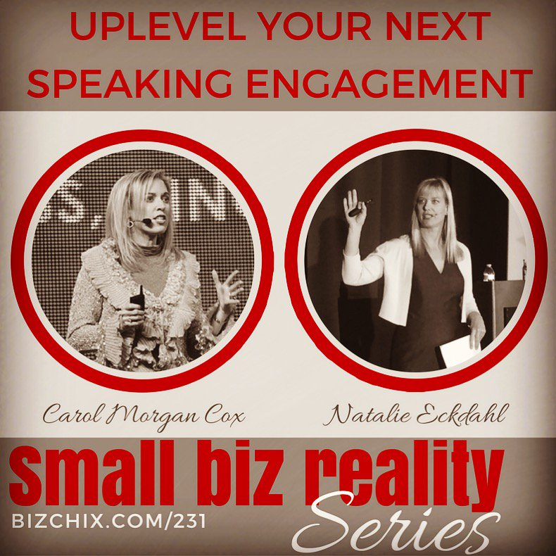 My #speaking coach @carolmorgancox is on the show helping me take my signature talk to the next level.  http:// bizchix.com/231  &nbsp;   #speakingtips <br>http://pic.twitter.com/tZdDdRk6iz
