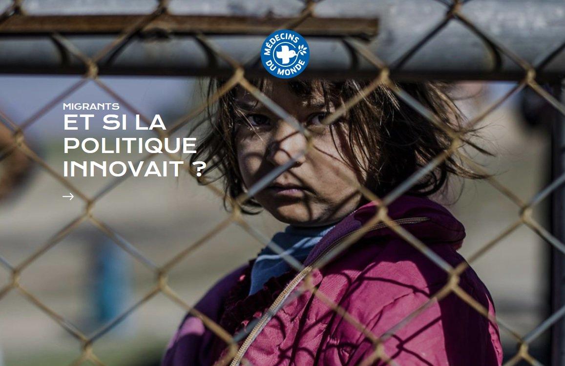 À la Une ce matin. Et si la politique innovait ? #Migrants #Présidentielle2017 &gt;&gt; http://www. medecinsdumonde.org  &nbsp;  <br>http://pic.twitter.com/iMsJEXTXfq